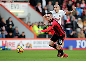 3rd December 2017, Vitality Stadium, Bournemouth, England; EPL Premier League football, Bournemouth versus Southampton; Lewis Cook of Bournemouth wins the ball off Oriol Romeu of Southampton