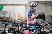 US champion Ruth Winder (USA/Trek-Segafredo) pre-race<br /> <br /> 7th La Course by Tour de France 2020 <br /> 1 day race from Nice to Nice (96km)<br /> <br /> ©kramon
