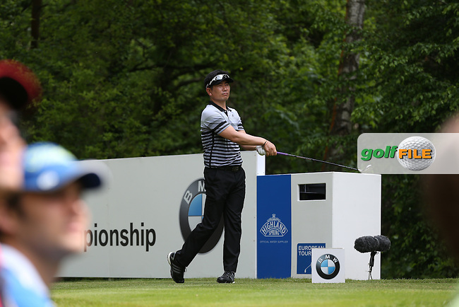 YE Yang (KOR) cards a 69 during Round Three of the 2015 BMW PGA Championship over the West Course at Wentworth, Virginia Water, London. 23/05/2015. Picture David Lloyd | www.golffile.ie.