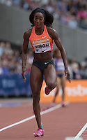 Funmi JIMOH of USA in action in the Long Jump during the Sainsbury's Anniversary Games, Athletics event at the Olympic Park, London, England on 25 July 2015. Photo by Andy Rowland.