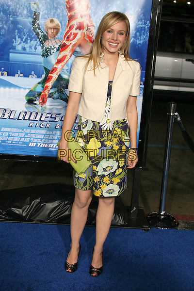 "KRISTEN BELL.Attending ""Blades of Glory"" Los Angeles Premiere at Grauman's Chinese Theatre, Hollywood, California.28 March 2007..full length.CAP/ADM/BP.©Byron Purvis/AdMedia/Capital Pictures."