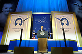 United States President Donald J. Trump delivers remarks during the Susan B. Anthony List 11th Annual Campaign for Life Gala at the National Building Museum on May 22, 2018 in Washington, DC.<br /> Credit: Oliver Contreras / Pool via CNP