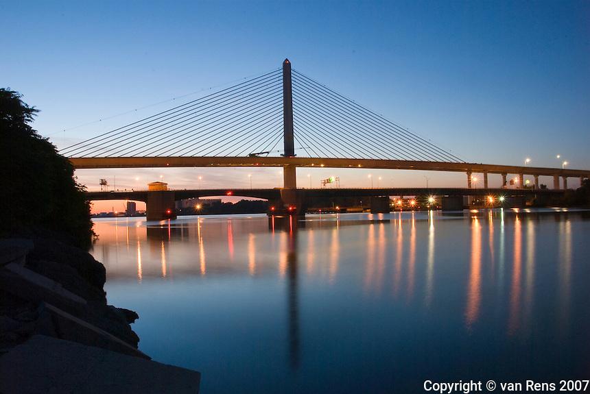 Morning of inaugural opening of the Veteran's Skyway Bridge