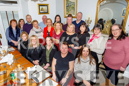 The staff of Crag Caves in Castleisland enjoying the evening in Bella Bia on Sunday.