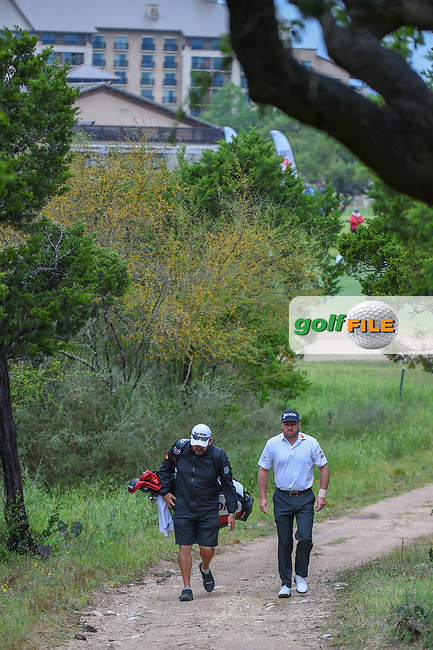 Graeme McDowell (NIR) makes his way to the tee on 1 during day 4 of the Valero Texas Open, at the TPC San Antonio Oaks Course, San Antonio, Texas, USA. 4/7/2019.<br /> Picture: Golffile   Ken Murray<br /> <br /> <br /> All photo usage must carry mandatory copyright credit (© Golffile   Ken Murray)