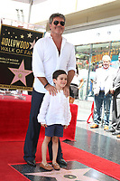 LOS ANGELES - AUG 22:  Eric Cowell, Simon Cowell at the Simon Cowell Star Ceremony on the Hollywood Walk of Fame on August 22, 2018 in Los Angeles, CA