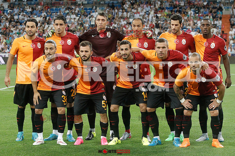 Galatasaray's team photo during XXXVI Santiago Bernabeu Trophy. August 18,2015. (ALTERPHOTOS/Acero)