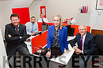 Fred McDonagh, Adrian King, David Glen, Dominika Chmielewska and Tony McPoland at the Red Door recruitment agency at New Street Killarney