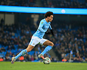 9th January 2018, Etihad Stadium, Manchester, England; Carabao Cup football, semi-final, 1st leg, Manchester City versus Bristol City; Leroy Sane of Manchester City runs the ball into attack