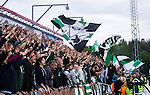 S&ouml;dert&auml;lje 2014-05-18 Fotboll Superettan Syrianska FC - Hammarby IF :  <br /> Hammarby supportrar p&aring; l&auml;ktaren p&aring; ena l&auml;ngesedan under matchen<br /> (Foto: Kenta J&ouml;nsson) Nyckelord:  Syrianska SFC S&ouml;dert&auml;lje Fotbollsarena Hammarby HIF Bajen supporter fans publik supporters utomhus exteri&ouml;r exterior