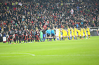Mannschaften laufen ein - Eintracht Frankfurt vs. Borussia Dortmund, Commerzbank Arena
