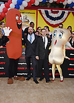 WESTWOOD, CA - AUGUST 09: Directors Conrad Vernon (L) and Greg Tiernan arrive at the Premiere Of Sony's 'Sausage Party' at Regency Village Theatre on August 9, 2016 in Westwood, California.
