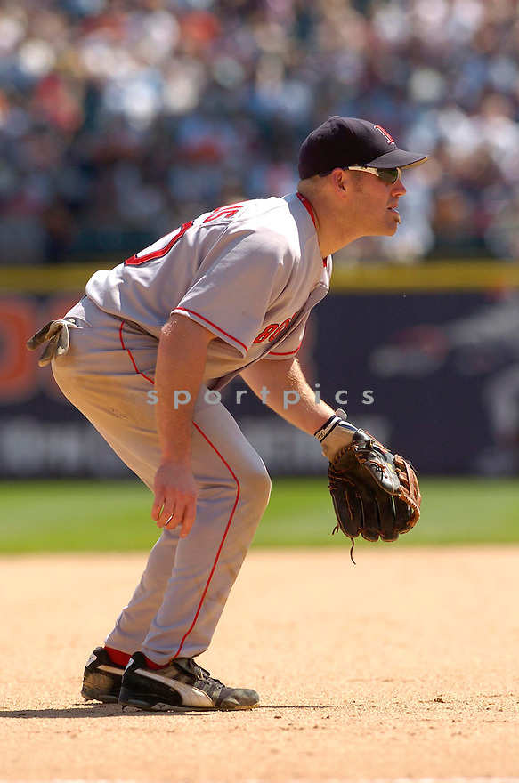 Kevin Youkilis, of the Boston Red Sox, during their game against the Detroit Tigers on June 6, 2006 in Detroit...Red Sox win8-3...David Durochik / SportPics