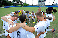 2 October 2011:  FIU's starters gather on the field immediately prior to the match.  The FIU Golden Panthers defeated the University of Kentucky Wildcats, 1-0 in overtime, at University Park Stadium in Miami, Florida.