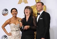 28 February 2016 - Hollywood, California - Priyanka Chopra, Margaret Sixel, Liev Schreiber. 88th Annual Academy Awards presented by the Academy of Motion Picture Arts and Sciences held at Hollywood & Highland Center. Photo Credit: Byron Purvis/AdMedia