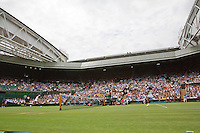 England, London, Juli 06, 2015, Tennis, Wimbledon, De sisters Venus (L) and Serena Williams (USA) playing eachother on centercourt, <br /> Photo: Tennisimages/Henk Koster