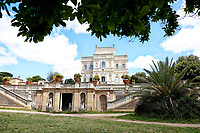 The Casina del Buon Respiro, inside Villa Pamphilj, where the Italian Premier convened the States General of Economy. The summit was strictly behind closed doors and the press was kept outside. Rome (Italy), June 15th 2020<br /> <br /> <br /> <br /> Samantha Zucchi Insidefoto