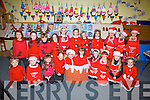 Juniors and Seniors from St Josephs NS Cahersiveen performing at their Christmas Show on Thursday pictured here front l-r; Doireann O'Shea, Katie O'Connor, Aoife Cournane, Sophia Walsh, Ciara Clifford, Nicole Devlin, Lexie O'Donoghue, Katie Coffey, Caoimhe O'Donoghue, Amie Kelly, back l-r; Veronia Stroie, Jennifer O'Sullivan, Rayna Hunt, Lola O'Neill, Sarah O'Connor, Grace Constable, Mary Kate Crowley, Katie Foster, Lily O'Brien, Niamh McCarthy & Angelika Miskowska.