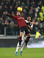 Calcio, Serie A: Juventus - Milan, Turin, Allianz Stadium, November 10, 2019.<br /> Milan's Lucas Paqueta (l) in action with Juventus' Alex Sandro (r) during the Italian Serie A football match between Juventus and Milan at the Allianz stadium in Turin, November 10, 2019.<br /> UPDATE IMAGES PRESS/Isabella Bonotto