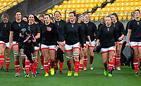 Canada walks back to the changing rooms before the 2017 International Women's Rugby Series rugby match between the NZ Black Ferns and Canada at Westpac Stadium in Wellington, New Zealand on Friday, 9 June 2017. Photo: Dave Lintott / lintottphoto.co.nz