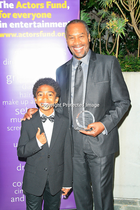 LOS ANGELES - JUN 7: Miles Brown, Joe Morton at the Actors Fund's 19th Annual Tony Awards Viewing Party at the Skirball Cultural Center on June 7, 2015 in Los Angeles, CA