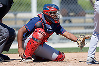 Minnesota Twins Robert Molina during a Minor League Spring Training game against the Tampa Bay Rays on March 15, 2018 at CenturyLink Sports Complex in Fort Myers, Florida.  (Mike Janes/Four Seam Images)