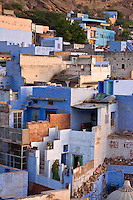 DAWN illuminates the city of JODHPUR also known as the BLUE CITY - RAJASTHAN, INDIA