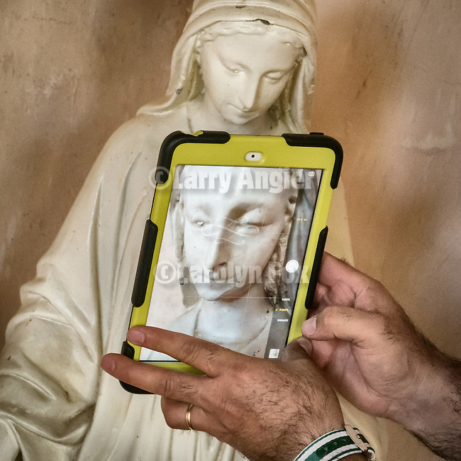 iPad and photography, Historic Mission San Antonio de Padua, 3rd of the Father Serra Mission, 1771, Monterey County, Calif.