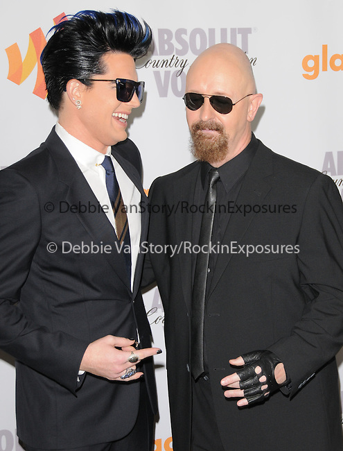 Rob Halford & Adam Lambert at the 21st Annual GLAAD Media Awards held at The Hyatt Regency Century Plaza in Century City, California on April 17,2010                                                                   Copyright 2010  DVS / RockinExposures