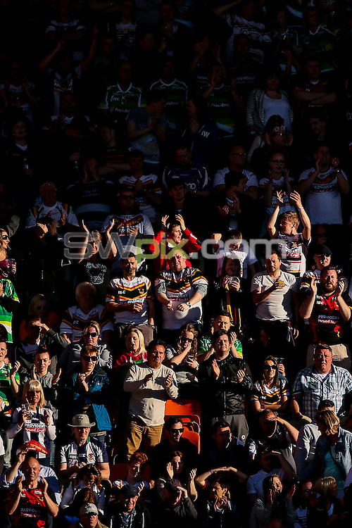 Picture by Alex Whitehead/SWpix.com - 23/05/2015 - Rugby League - Kingstone Press Championship Summer Bash - Bradford Bulls v Halifax RLFC - Bloomfield Road, Blackpool, England - fans, supporters.