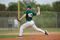 Babson Beavers relief pitcher Nate Carpenter (40) during a game against the Edgewood Eagles on March 18, 2019 at Lee County Player Development Complex in Fort Myers, Florida.  Babson defeated Edgewood 23-7.  (Mike Janes/Four Seam Images)