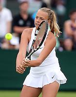 ANETT KONTAVEIT (EST),<br /> <br /> The Championships Wimbledon 2014 - The All England Lawn Tennis Club -  London - UK -  ATP - ITF - WTA-2014  - Grand Slam - Great Britain -  23rd June 2014. <br /> <br /> © J.Hasenkopf / Tennis Photo Network