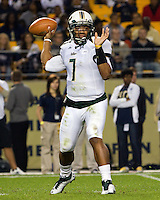 USF quarterback BJ Daniels (7).The Pitt Panthers defeated the USF Bulls 44-17 on September 29, 2011 at Heinz Field in Pittsburgh Pennsylvania.