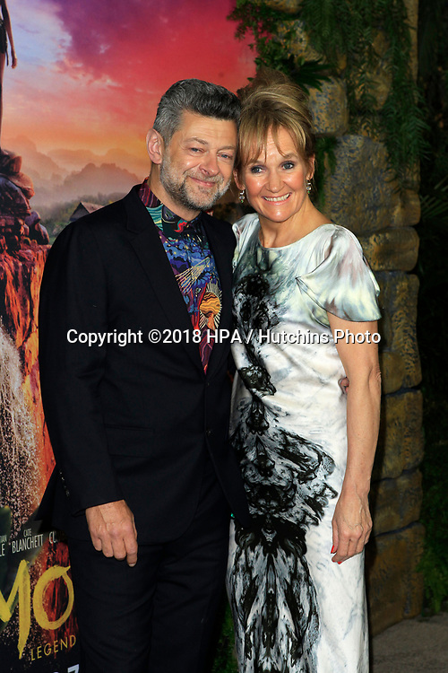 """LOS ANGELES - NOV 28:  Andy Serkis, Lorraine Ashbourne at the """"Mowgli: Legend of the Jungle"""" Premiere at the ArcLight Theater on November 28, 2018 in Los Angeles, CA"""