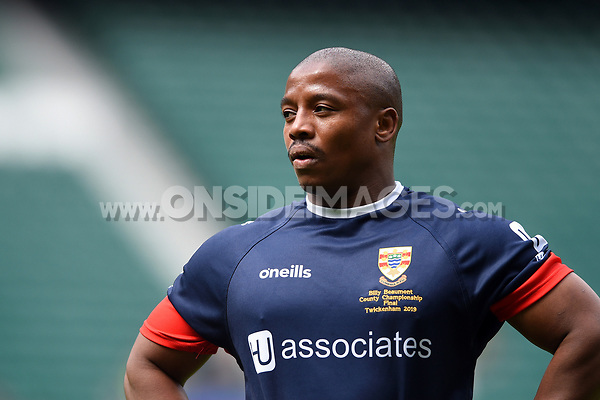 Dinilesize Nayo of Cumbria looks on. Bill Beaumont County Championship Division 3 Final between Cumbria and Dorset & Wilts on June 8, 2019 at Twickenham Stadium in London, England. Photo by: Patrick Khachfe / Onside Images