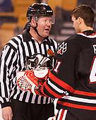 Joe Ross, Ryan Ruck (NU - 41) - The Harvard University Crimson defeated the Northeastern University Huskies 4-3 in the opening game of the 2017 Beanpot on Monday, February 6, 2017, at TD Garden in Boston, Massachusetts.