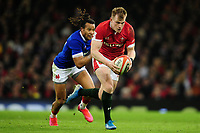Nick Tompkins of Wales in action during the Guinness Six Nations Championship Round 3 match between Wales and France at the Principality Stadium in Cardiff, Wales, UK. Saturday 22 February 2020