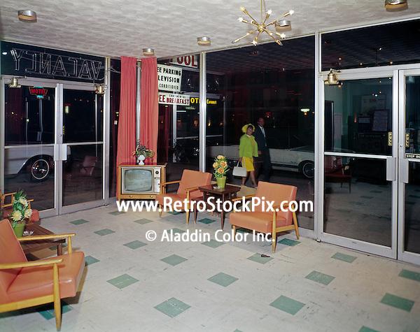 Catalina Motel, Atlantic City, NJ. Lobby at night.