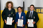 Girls Yachting finalists Bianca Barbarich-Bacher, Alexandra Maloney & Jazmine Lynch. ASB College Sport Young Sportperson of the Year Awards 2008 held at Eden Park, Auckland, on Thursday November 13th, 2008.