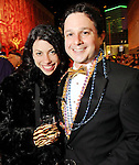 Loren Jacobs and Benjy Shabot at the Mardi Gras Ball at the Tremont House in Galveston Saturday Feb. 13,2010.(Dave Rossman Photo)