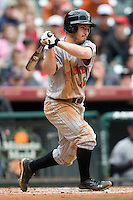 Texas Tech Red Raider shortstop Joey Kenworthy against Houston on Sunday March 7th, 2100 at the Astros College Classic in Houston's Minute Maid Park.  (Photo by Andrew Woolley / Four Seam Images)