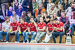 Mannheim, Germany, February 01: During the 1. Bundesliga men indoor quarter final hockey match between Mannheimer HC and Rot-Weiss Koeln on February 1, 2020 at Irma-Roechling-Halle, Am Neckarkanal in Mannheim, Germany. Final score 4-5. (Photo by Dirk Markgraf / www.265-images.com) ***