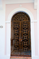 Ornamental iron doorway in Old San Juan, Puerto Rico.