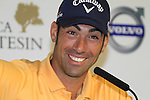 Alvaro Quiros (ESP) being interviewed after winning his match against Soren Kjeldsen (DEN) during the morning session Day 2 of the Volvo World Match Play Championship in Finca Cortesin, Casares, Spain, 20th May 2011. (Photo Eoin Clarke/Golffile 2011)