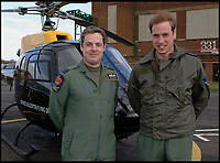 BNPS.co.uk (01202 558833)<br /> Pic: CrownCopyright/AirHistoricalBranch<br /> <br /> 2008 - HRH Prince William alongside his helicoptor instructor Sqn Ldr Allison at RAF Shawbury.<br /> <br /> A new book gives an intimate look behind the scenes of the Royal Flight and also the flying Royals.<br /> <br /> Starting in 1917 the book charts in pictures the 100 year evolution of first the King's Flight and then later the Queen's Flight as well as the Royal families passion for aviation.<br /> <br /> Author Keith Wilson has had unprecedented access to the Queen's Flight Archives to provide a fascinating insight into both Royal and aeronautical history.