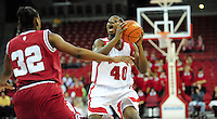 Wisconsin's Anya Covington looks to pass against Indiana University in women's basketball at the Kohl Center on Monday in Madison
