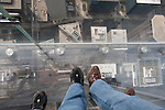 Feet on The Ledge at the Willis Tower Skydeck, Chicago, IL