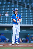 AZL Cubs 2 Jose Cardona (20) at bat during an Arizona League game against the AZL Dbacks on June 25, 2019 at Sloan Park in Mesa, Arizona. AZL Cubs 2 defeated the AZL Dbacks 4-0. (Zachary Lucy/Four Seam Images)
