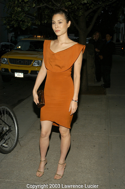 NEW YORK - SEPTEMBER 18: Actress China Chow arrives September 18, 2003, at the Zac Posen Spring/Summer 2004 Collection Fashion Show at the Chelsea Art Museum.