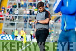 Kerry manager Éamonn Fitzmaurice and Maurice Fitzgerald in the dying moments of the GAA Football All-Ireland Senior Championship Quarter-Final Group 1 Phase 3 match between Kerry and Kildare at Fitzgerald Stadium in Killarney, on Saturday evening.